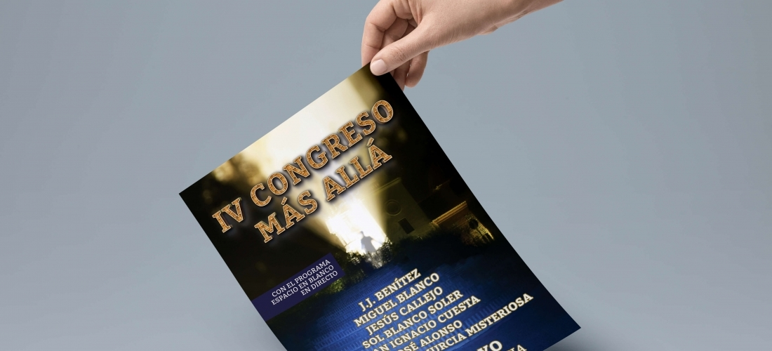 Diseño de folleto para Congreso Más Allá