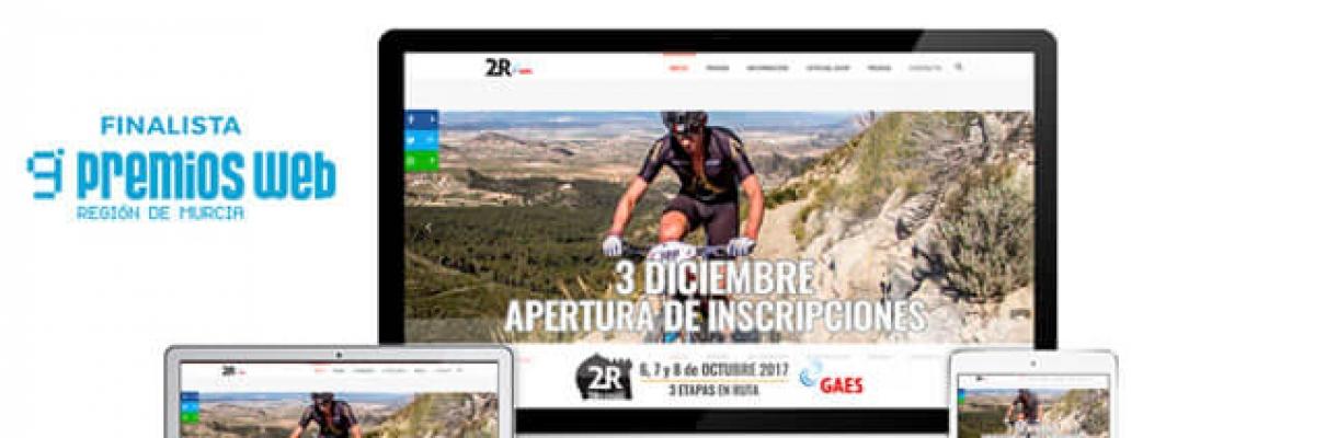 Finalista IX Premios Web de La Verdad con  2 Reinos MTB Race
